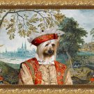 Australian Silky Terrier Fine Art Canvas Print - View in castle