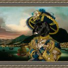 Scottish Terrier Fine Art Canvas Print - View of the harbor