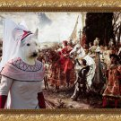 Scottish Terrier Fine Art Canvas Print - The reverance to the Queen