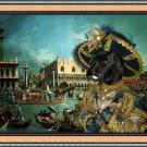 Scottish Terrier Fine Art Canvas Print - Venice Carnival