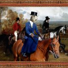Sealyham Terrier Fine Art Canvas Print - Horseriders promenade