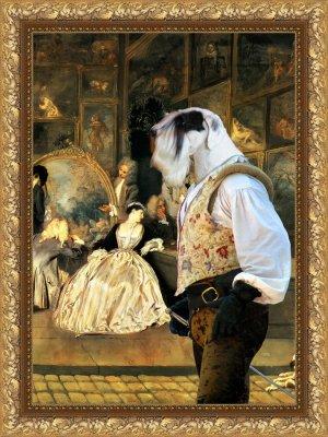 Sealyham Terrier Fine Art Canvas Print - At the artdealer's shop