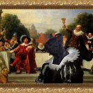 Skye Terrier Fine Art Canvas Print - The lunch