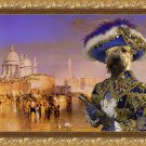 Soft Coated Wheaten Terrier Fine Art Canvas Print - Pirate in Venice