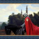 Soft Coated Wheaten Terrier Fine Art Canvas Print - Castle and Knight