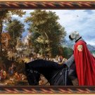 Soft Coated Wheaten Terrier Fine Art Canvas Print - Village knight