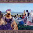 Soft Coated Wheaten Terrier Fine Art Canvas Print - Sunday  Afternoon