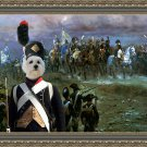 West Highland White Terrier Fine Art Canvas Print - Napoleon's call to battle
