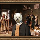 West Highland White Terrier Fine Art Canvas Print - After Aphrodite, Apollo's turn