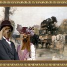 Yorkshire Terrier Fine Art Canvas Print - The waiting carriages
