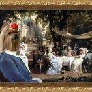 Yorkshire Terrier Fine Art Canvas Print - The Garden Party