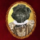 Affenpinscher Jewelry Brooch Handcrafted Ceramic - Queen