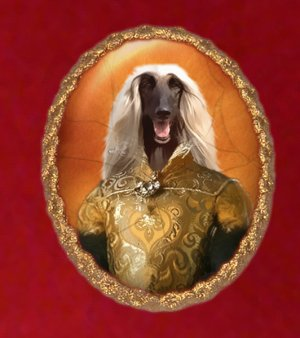 Afghan Hound Jewelry Brooch Handcrafted Ceramic - Queen