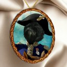 Affenpinscher Pendant Necklace Porcelain - Napoleon's Soldier
