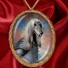 Afghan Hound Pendant Necklace Porcelain - Knight