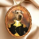 Airedale Terrier Pendant Necklace Porcelain - Admiral