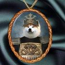 Akita Inu Pendant Necklace Porcelain - Samurai