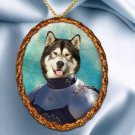Alaskan Malamute Pendant Necklace Porcelain - Knight