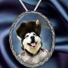 Alaskan Malamute Pendant Necklace Porcelain - Russian Duke