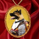 American Akita Pendant Necklace Porcelain - Knight