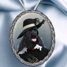 American Cocker Spaniel Pendant Necklace Porcelain - Musketeer