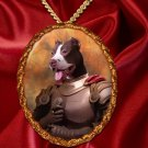 American Staffordshire Terrier Pendant Necklace Porcelain - Brave Knight