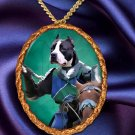 American Staffordshire Terrier Pendant Necklace Porcelain - Knight