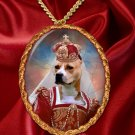 American Staffordshire Terrier Pendant Necklace Porcelain - Queen