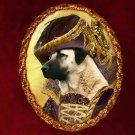 Anatolian Shepherd Dog Jewelry Brooch Handcrafted Ceramic - Countess