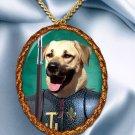 Anatolian Shepherd Dog Pendant Necklace Porcelain - Knight