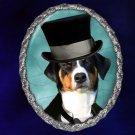 Appenzeller Sennenhund Jewelry Brooch Handcrafted Ceramic - Gentleman