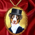 Appenzeller Sennenhund Pendant Necklace Porcelain - Lady