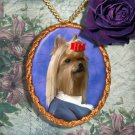 Yorkshire Terrier Pendant Necklace Porcelain - Baron