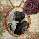 Wetterhoun Pendant Jewelry Handcrafted Ceramic - Knight