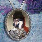 West Siberian Laika Pendant Jewelry Handcrafted Ceramic - Cossack