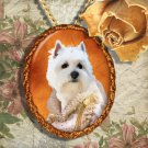 West Highland White Terrier Pendant Jewelry Handcrafted Ceramic - Quenn