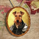 Welsh Terrier Pendant Jewelry Handcrafted Ceramic - Tudor Duke