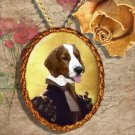 Welsh Springer Spaniel Pendant Jewelry Handcrafted Ceramic - Duchess