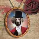 Weimaraner Pendant Jewelry Handcrafted Ceramic - Master of Hunt