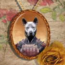 Thai Ridgeback Dog Pendant Jewelry Handcrafted Ceramic - Samurai