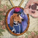 Basset Artésien Normand Pendant Jewelry Handcrafted Ceramic - Lady