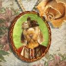 Basset Fauve de Bretagne Pendant Jewelry Handcrafted Ceramic - King