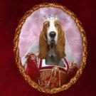 Basset Hound Jewelry Brooch Handcrafted Ceramic - Queen