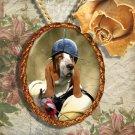 Basset Hound Pendant Jewelry Handcrafted Ceramic - Soldier