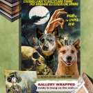 Australian Cattle Dog Poster Canvas Print - Night of the Living Dead