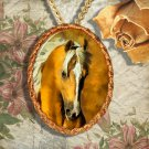 Palomino Horse Western Quarter Horse Jewelry Pendant Necklace Handcrafted Ceramic