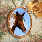 Paint Horse Western Horse Jewelry Pendant Necklace Handcrafted Ceramic