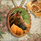 Chestnut Horse Morgan Horse Jewelry Pendant Necklace Handcrafted Ceramic