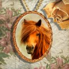 Icelandic Pony Horse Jewelry Pendant Necklace Handcrafted Ceramic