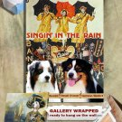Australian Shepherd Art Prints  - Singin' in the Rain Movie Poster